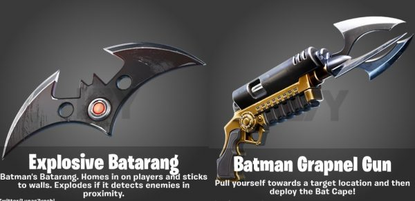 Explosive Batarang and Batman Grapnel Gun