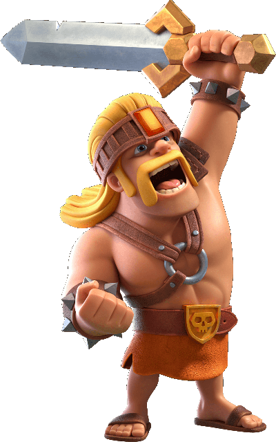 суперварвар super barbarian clash of clans