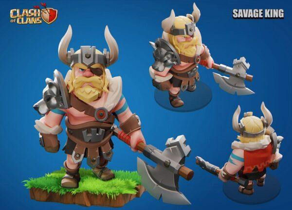 Savage king skin by oni на Supercell Make